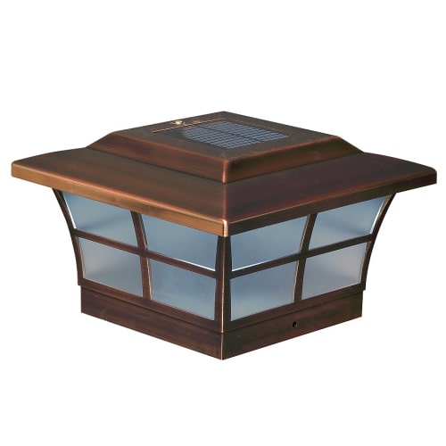 "Classy Caps SL086 Prestige Single Light 6"" X 6"" Integrated LED Outdoor Post Light"