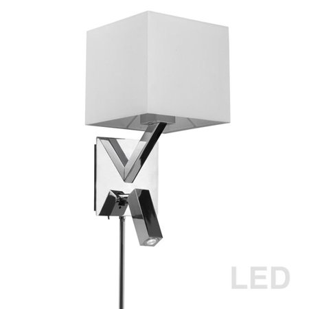 Dainolite DLED496-PC Wall Sconce with LED Reading Lamp, Polished Chrome - 15 x 7 x 8 in. - image 1 of 1