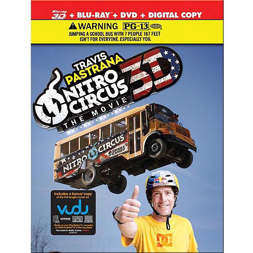 Nitro Circus: The Movie 3D (3D Blu-ray + Blu-ray + DVD + Digital Copy))