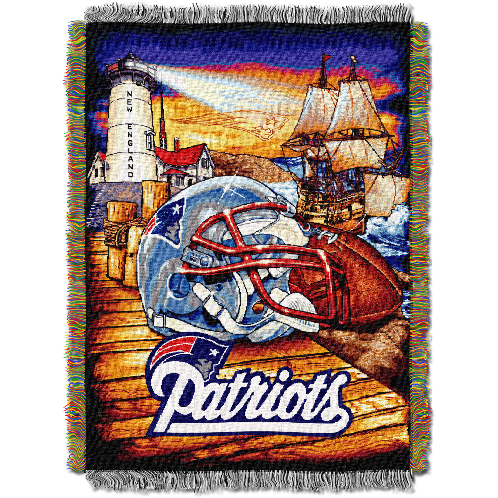 "NFL 48"" x 60"" Tapestry Throw Home Field Advantage Series- Patriots"