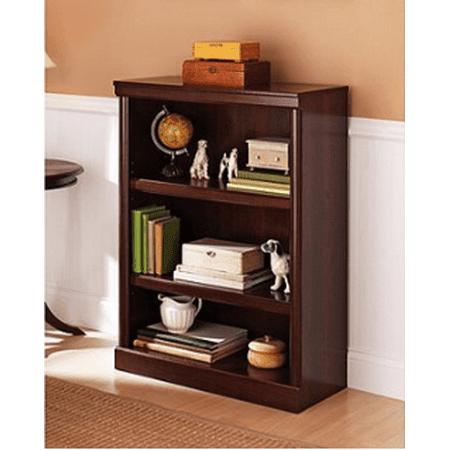 (Set of 2) Better Homes & Gardens Ashwood Road 3 Shelf Bookcase, Cherry Finish 3 Piece Cherry Bookcase