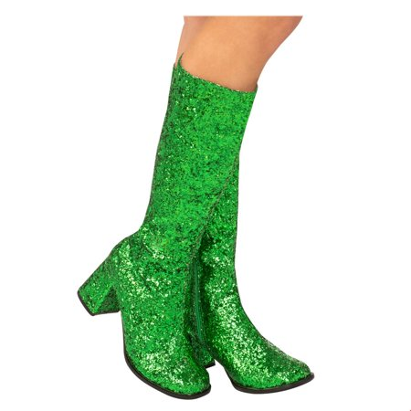 Adult GoGo Boot Green Halloween Costume Accessory - Green Jester Costume