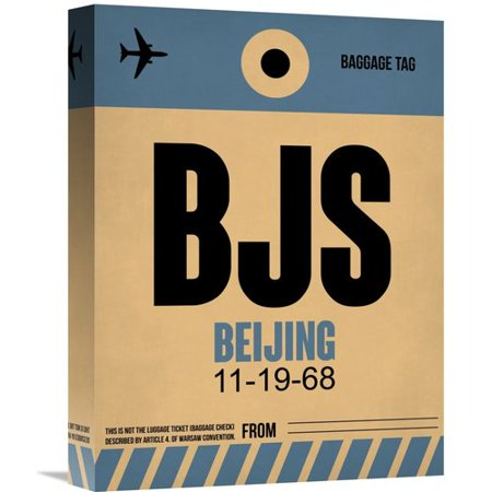 Naxart Bjs Beijing Luggage Tag 2 Graphic Art On Wrapped Canvas