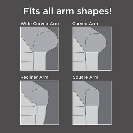 Mainstays PixelStretch Fabric Furniture Armrest Covers - Walmart.com - Mainstays PixelStretch Fabric Furniture Armrest Covers