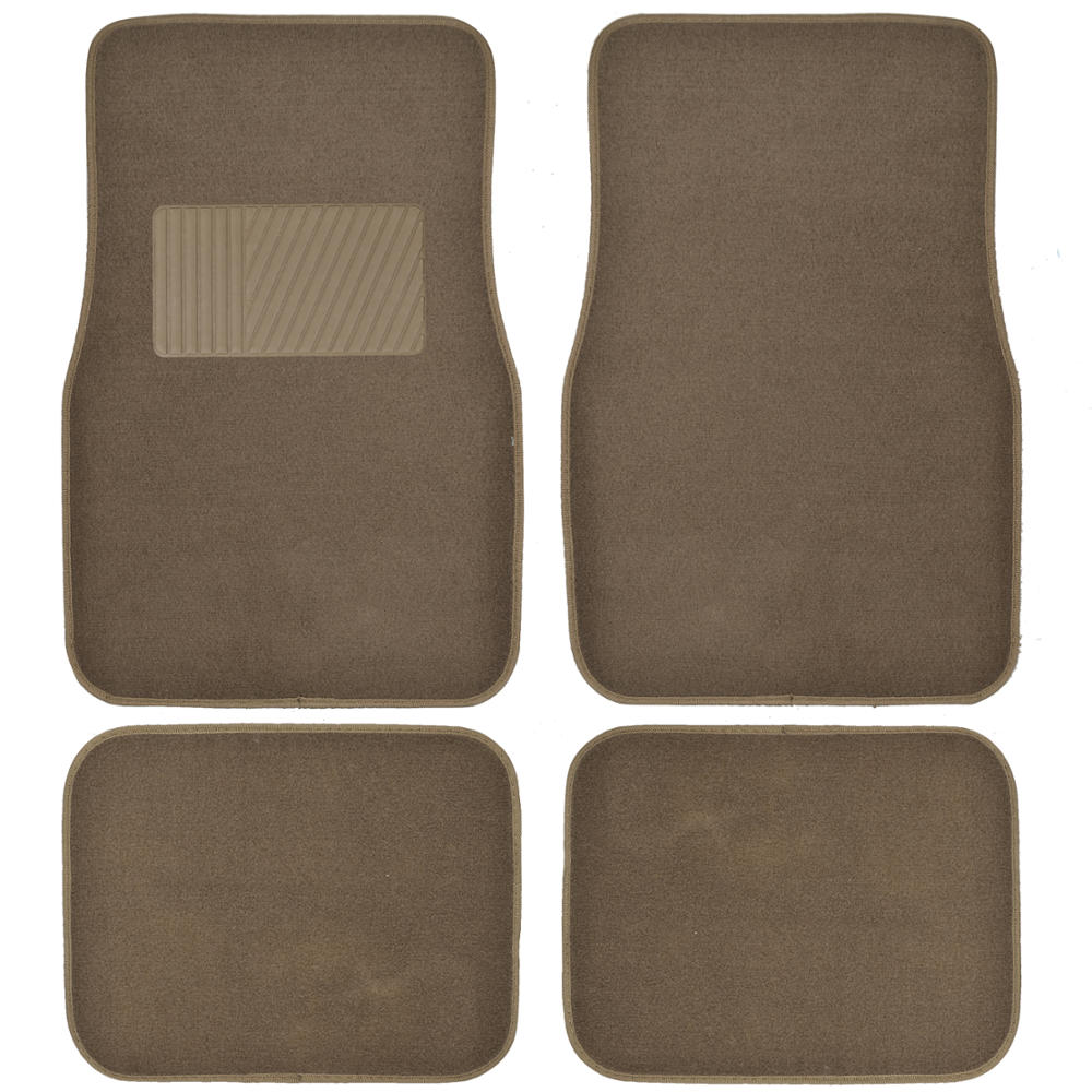 BDK Premium Heavy-Carpeted Car Floor Mats for Car, 4-Piece, Extra Carpet Cushion, Rubberized Backing