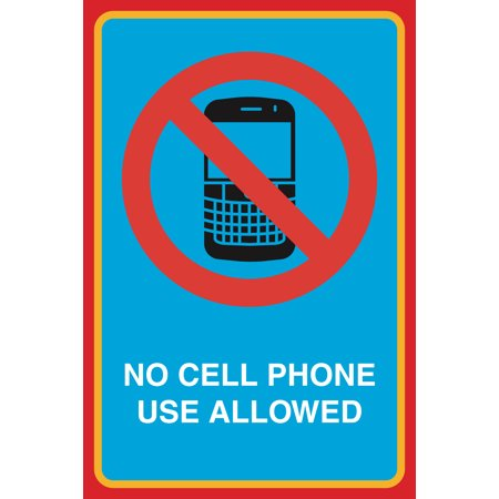 no cell phone use allowed print picture notice business office