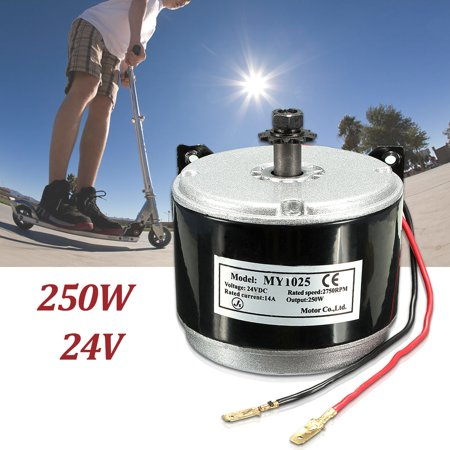 Electric Scooter Motor Electric Motor Brushed 250W 2-Wired Chain For E Bike Scooter Motorcycle DC24V DC 2750 RPM (2000 Watt Dc Motor)