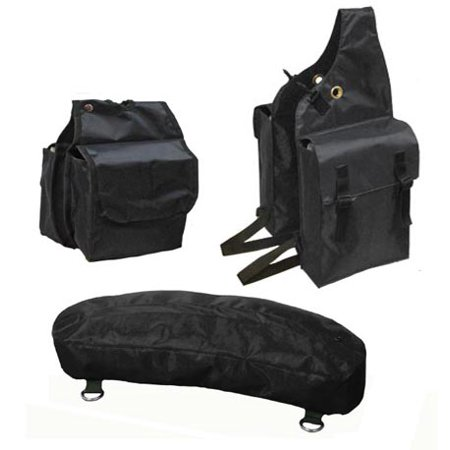 Nylon Saddle Bags Set 3 Item for Trail Riding