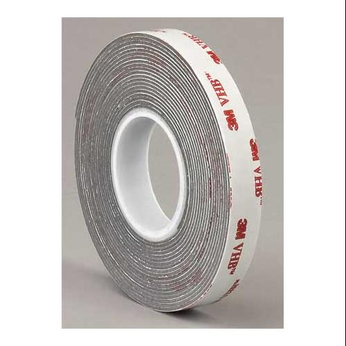 3M PREFERRED CONVERTER 4936 VHB Tape,1/2 In x 5 yd.,Gray