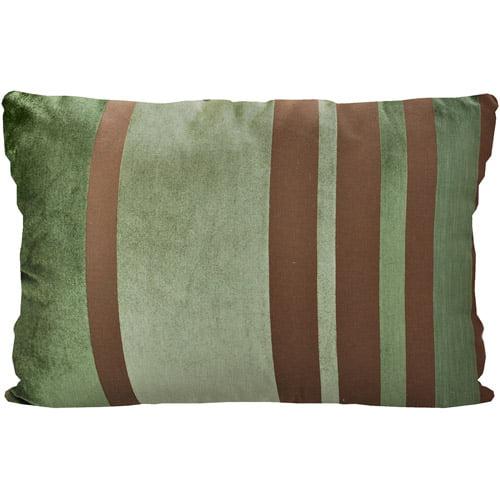 Better Homes & Gardens Velvet Stripe Pillow, Green, Multiple Colors