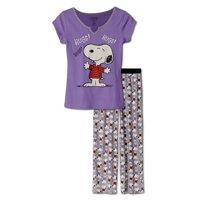 Peanuts Snoopy Hugs Women's 2 Piece Pajama, Size: XL