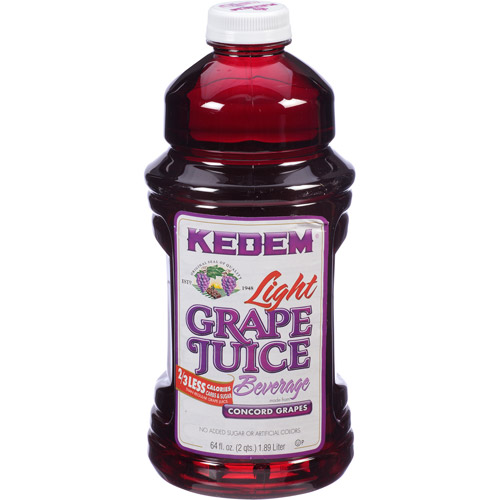 Kedem 100% Juice, Light Grape, 64 Fl Oz (Pack of 8)