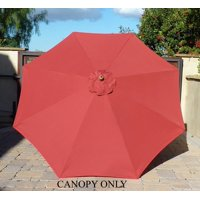 Formosa Covers 9ft Umbrella Replacement Canopy 8 Ribs in Brick Red (Canopy Only)