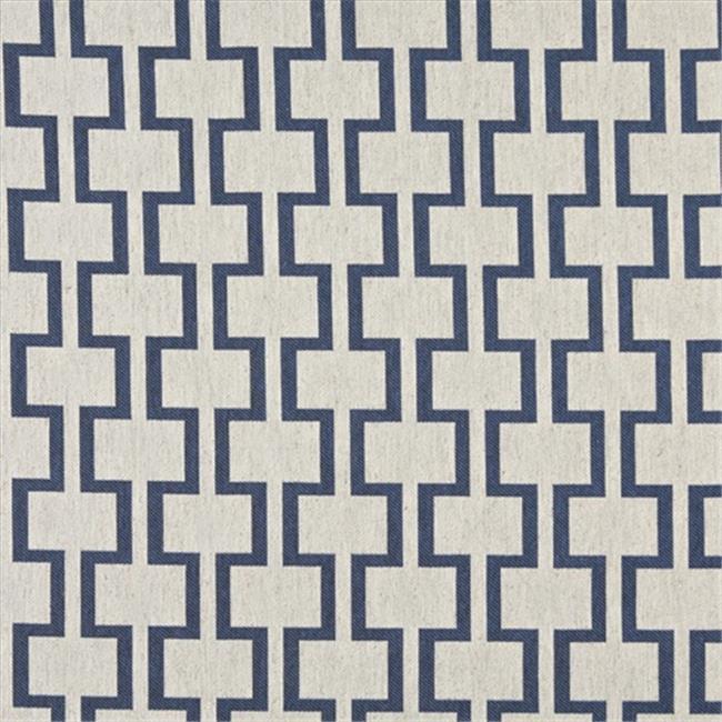 Designer Fabrics K0002E 54 in. Wide Blue And Off White, Modern, Geometric Designer Quality Upholstery Fabric