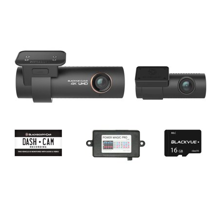 - Blackvue DR900S-2CH with Power Magic Pro Hardwire Kit 2-Channel | 4K Dashcam | 16GB SD Card