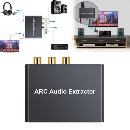ESYNIC HDMI Audio Extractor 192KHz DAC Converter ARC Audio Extractor Support Digital HDMI Audio to Analog Stereo Audio RCA L/R Coaxial SPDIF and 3.5mm Jack ARC Audio Adapter for TV