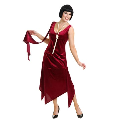 Adult Wine Sandy Speak Easy Flapper Costume Charades 2331, 11 to 13