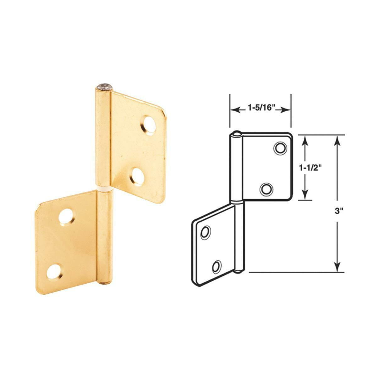 Slide-Co 1932 Adjustable Hinged Shower Door Latch Nylon Tip Stainless Steel