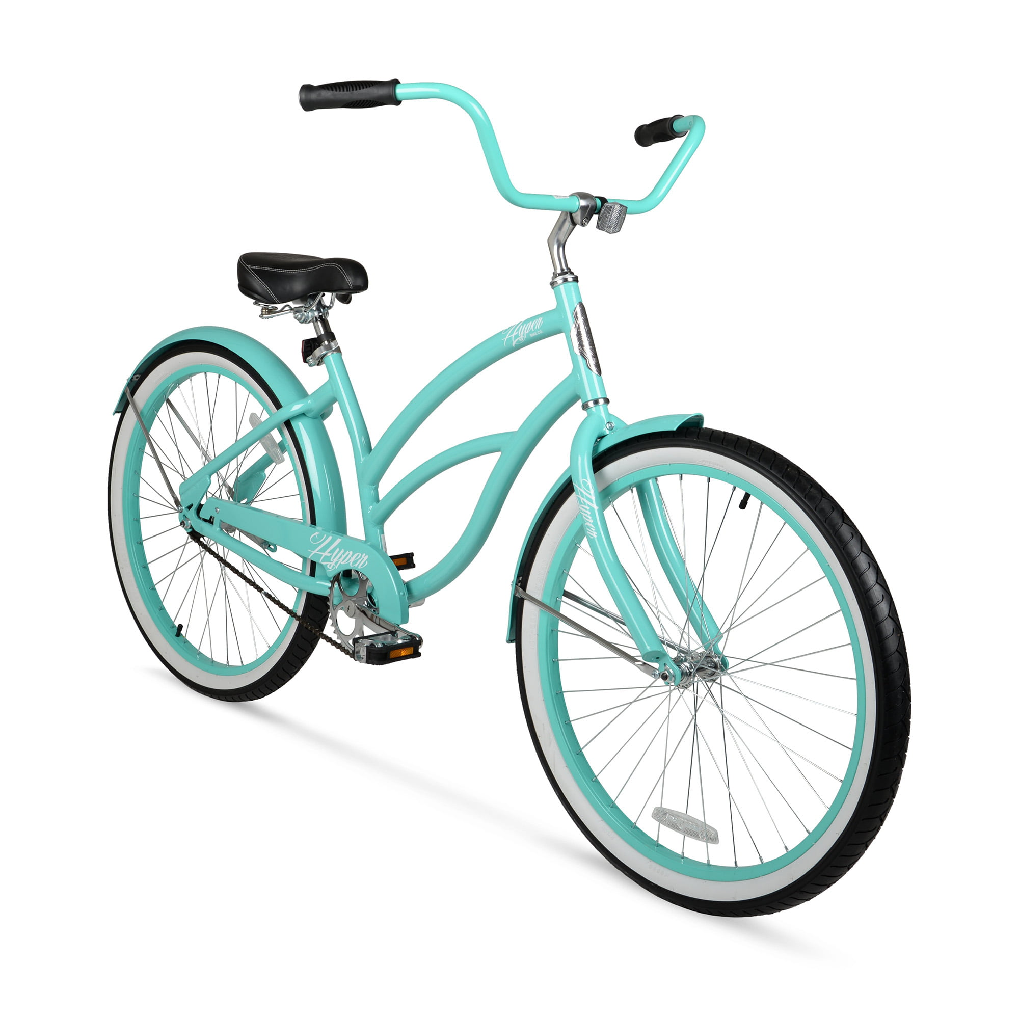 "Beach Cruiser Bike Turquois 26"" Lightweight Aluminum Frame Women ..."