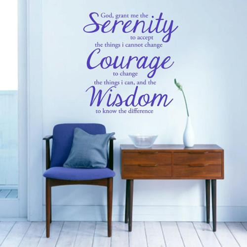 Sweetums Serenity Prayer Wall Decal' 22 x 24-inch Wall Decal