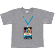 Personalized Yo Gabba Gabba Backstage Pass Kids' T-Shirt, Grey