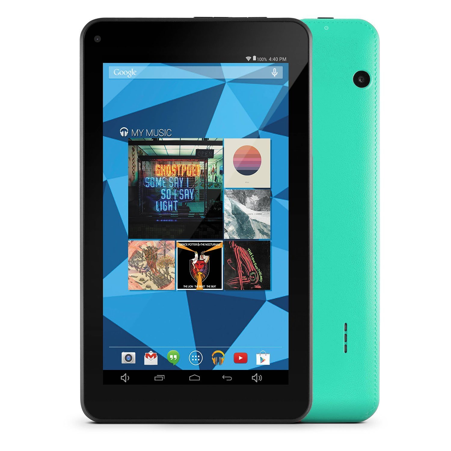 "Ematic EGQ367BD with WiFi 7"" Touchscreen HD Quad-Core Tablet PC Featuring Android 5.0 (Lollipop) Operating System, Teal"