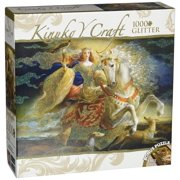 MasterPieces Eleanor of Aquitaine Kinuko Craft Glitter Jigsaw Puzzle, 1000-Piece