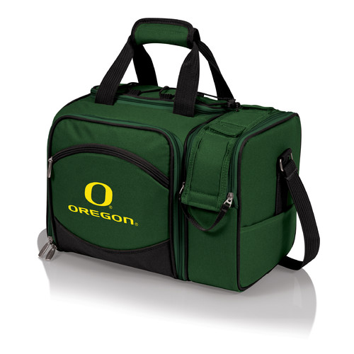 Malibu Digital Print Tote in Hunter Green - University of Oregon Ducks