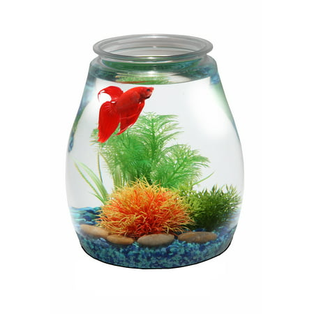 Hawkeye 2 gallon fish bowl break resistant plastic 9 dia for 2 gallon fish bowl