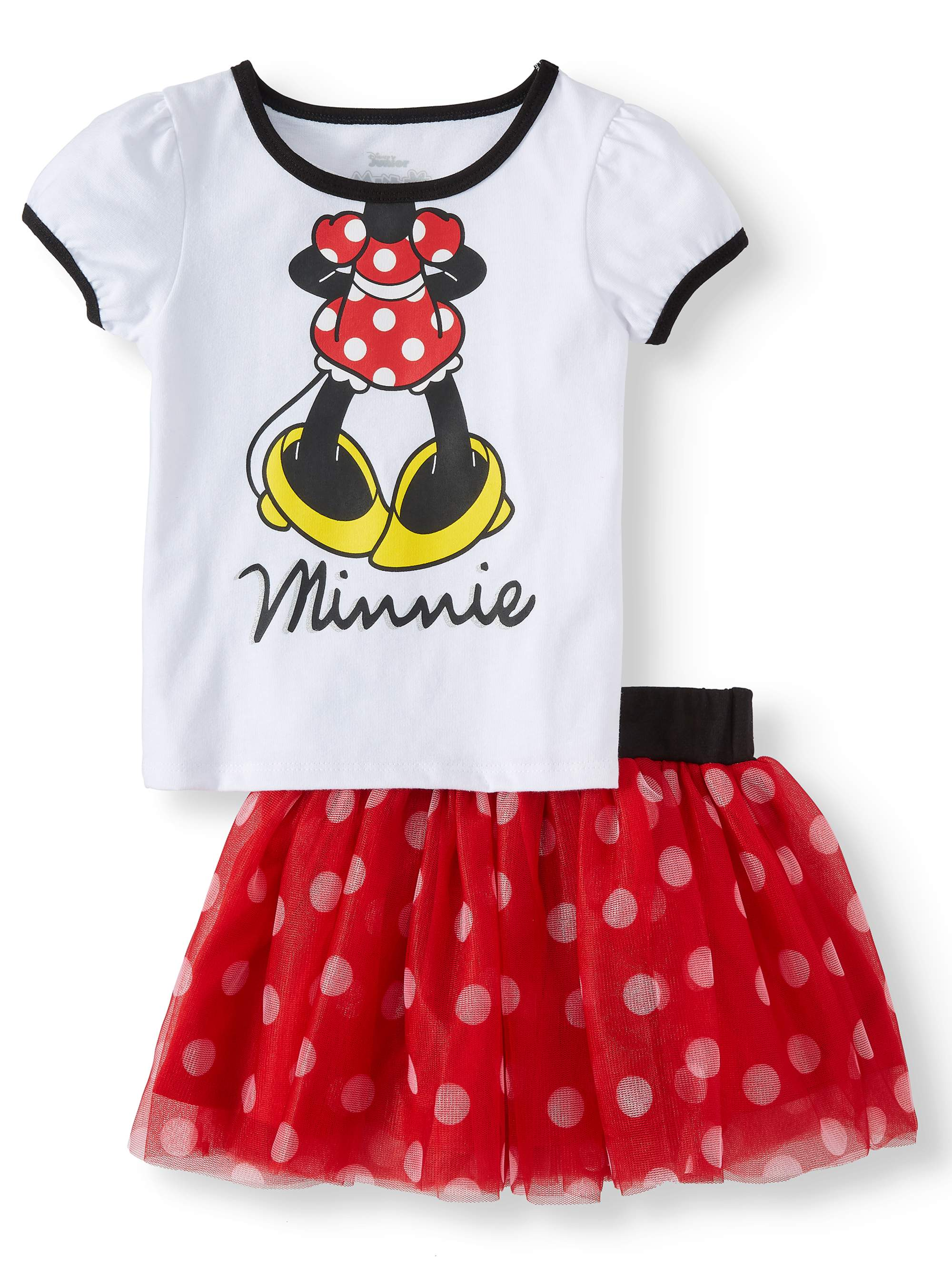dbb89f0b Minnie Mouse T-Shirt, Tutu Skirt, & Headband, 3pc Outfit Set ...
