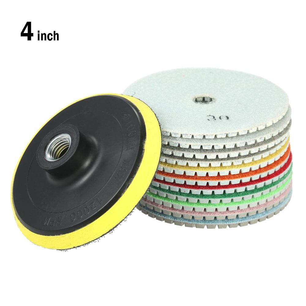 "11pcs 4/"" Diamond Wet Polishing Pads Grinding Disc For Granite Marble Stone G4T8"