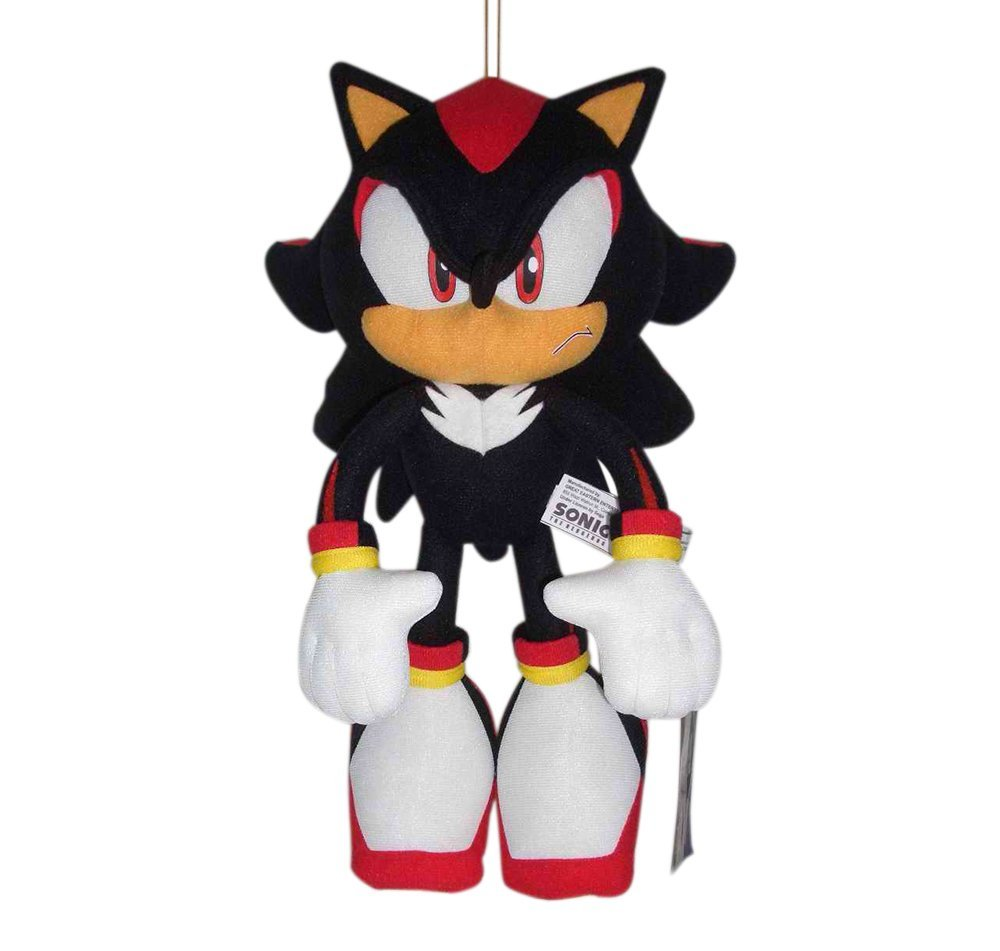 """Sonic the Hedgehog Plush-12"""" Shadow (GE-8967) By Great Ea..."""