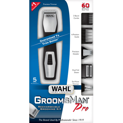 WAHL Home Products Groomsman Pro Rechargeable Grooming Kit, Model 9855-300