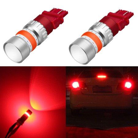Alla Lighting 2800lm 3156 3057 4057 3157 LED Bulbs Turn Signal, Brake Stop  Tail Lights COB-72 12V LED Replacement for Cars, Trucks, Pure Red (Set of