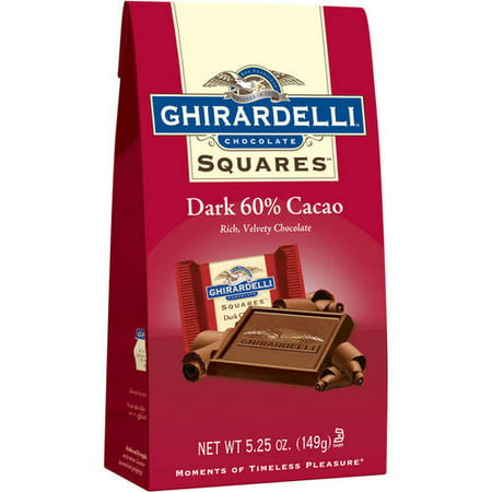 Ghirardelli Peppermint Bark Squares (Ghirardelli Chocolate Squares 60% Cacao Dark Chocolate, 5.25 oz )