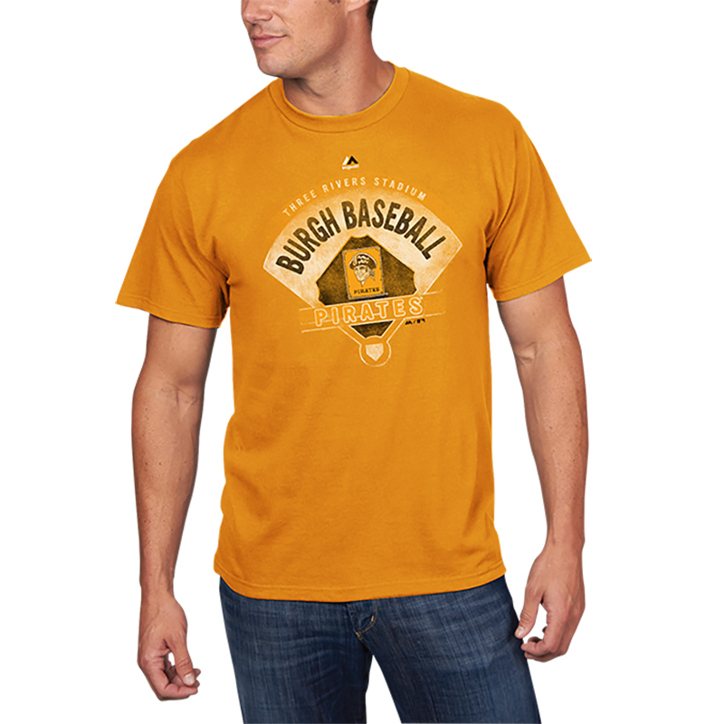 Pittsburgh Pirates Majestic Cooperstown Collection Strategic Advantage T-Shirt - Gold