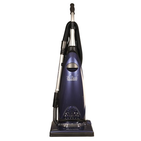 The BANK President Easy-to-Push Powerful Vacuum with Quick-Draw Attachments, 12 AMP Motor, Thermal Reset and Metal Roller Brush