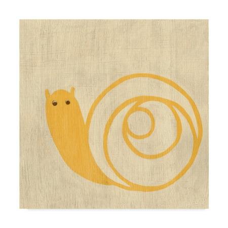 Trademark Fine Art 'Best Friends Snail' Canvas Art by Chariklia