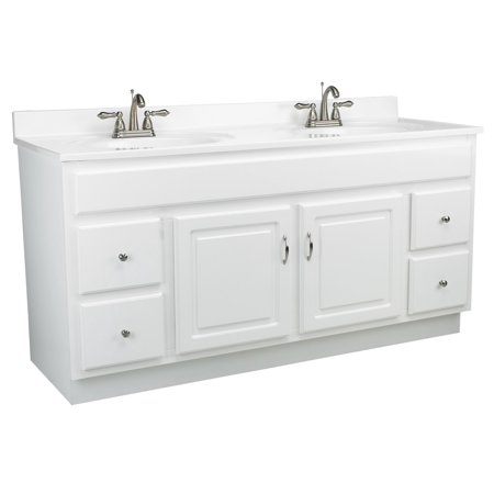 Rectangular Vanity Top (Design House 541078 Concord Unassembled 2-Door 4-Drawer Vanity without Top, 60