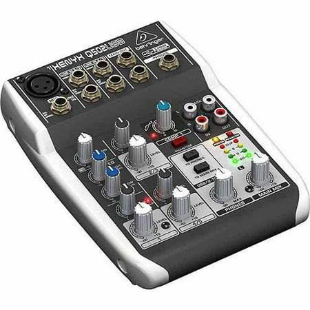 behringer 5 input usb audio mixer with xlr preamp. Black Bedroom Furniture Sets. Home Design Ideas