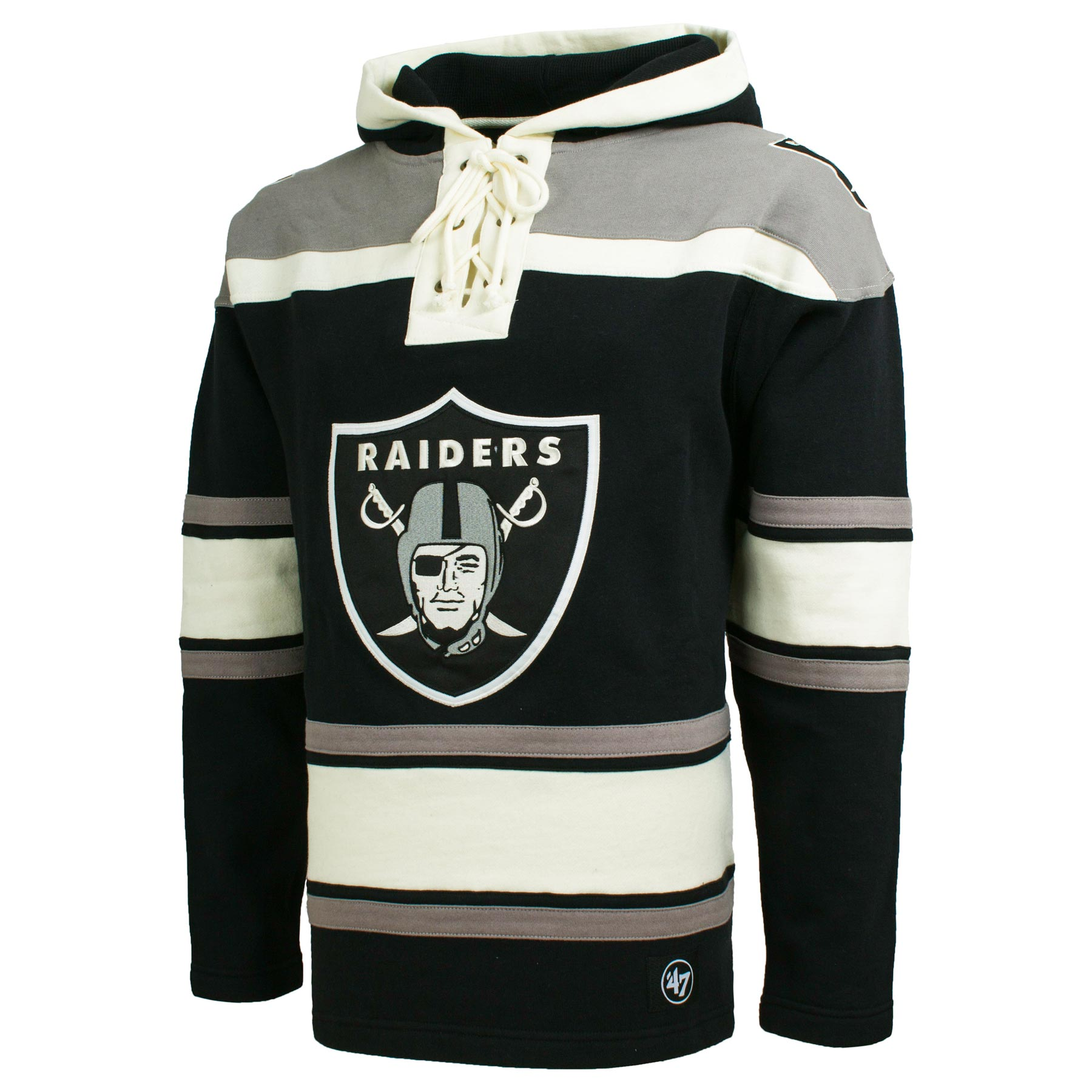 new arrivals dc2be 0c8bf Oakland Raiders NFL '47 Heavyweight Jersey Lacer Hoodie ...