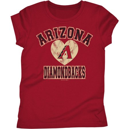 MLB Arizona Diamondbacks Girls Short Sleeve Team Color Graphic Tee (Arizona State Girl Halloween)