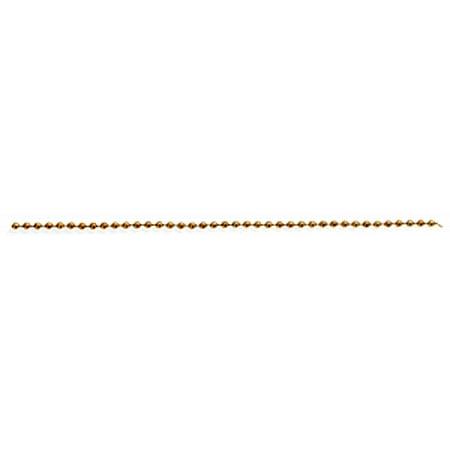 Satco 3 Beaded Chain 3/32in Diameter 250 Ft Spool Brass 250' Roll Beaded Chain