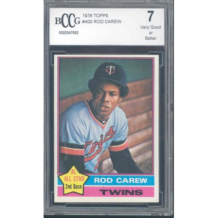 1976 topps #400 ROD CAREW twins BGS BCCG 7