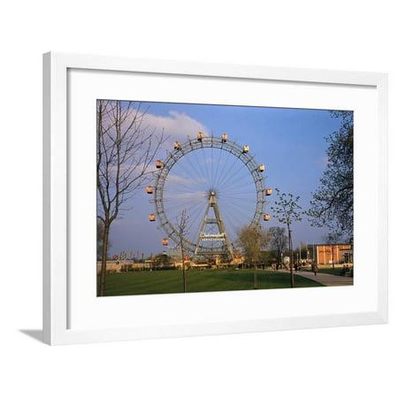Giant Ferris Wheel in Prater Amusement Park Framed Print Wall Art](Ferris Wheel Centerpiece)