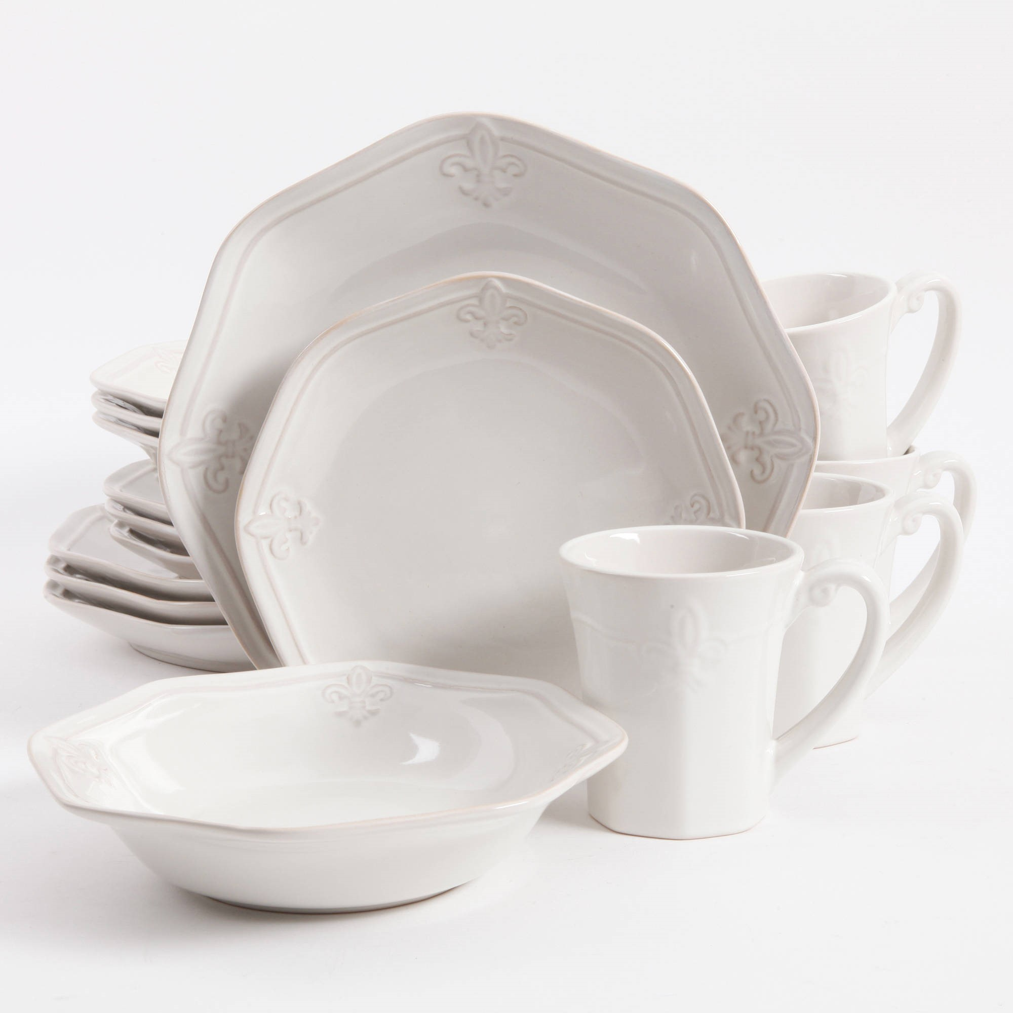 Better Homes & Gardens Country Crest 16-Piece Dinnerware Set by Gibson Overseas, Inc.