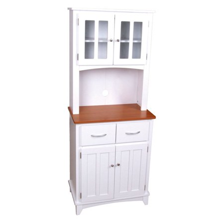 Brook Microwave White Cabinet
