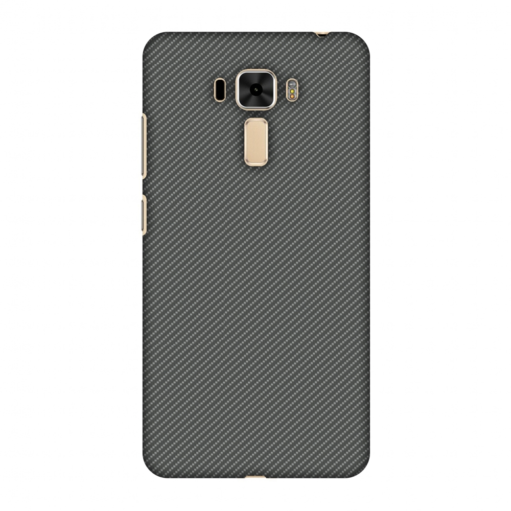 Asus ZenFone 3 Laser ZC551KL Case - Neutral Grey Texture, Hard Plastic Back Cover. Slim Profile Cute Printed Designer Snap on Case with Screen Cleaning Kit