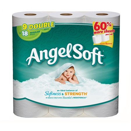 Angel Soft Toilet Paper  9 Double Rolls