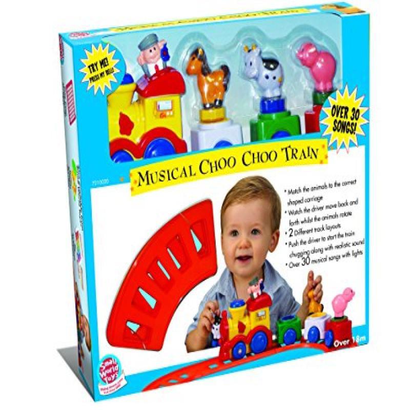 Small World Toys Preschool Musical Choo Choo Train B O by